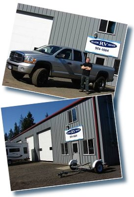 Chris Deaves, Seaside RV Sales and Service owner and the new shop