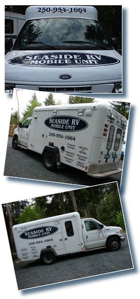 Seaside RV Service mobile service unit available Bowser to Nanaimo