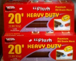 20' Heavy Duty EZ-Flush premium RV drain & sewer hose.
